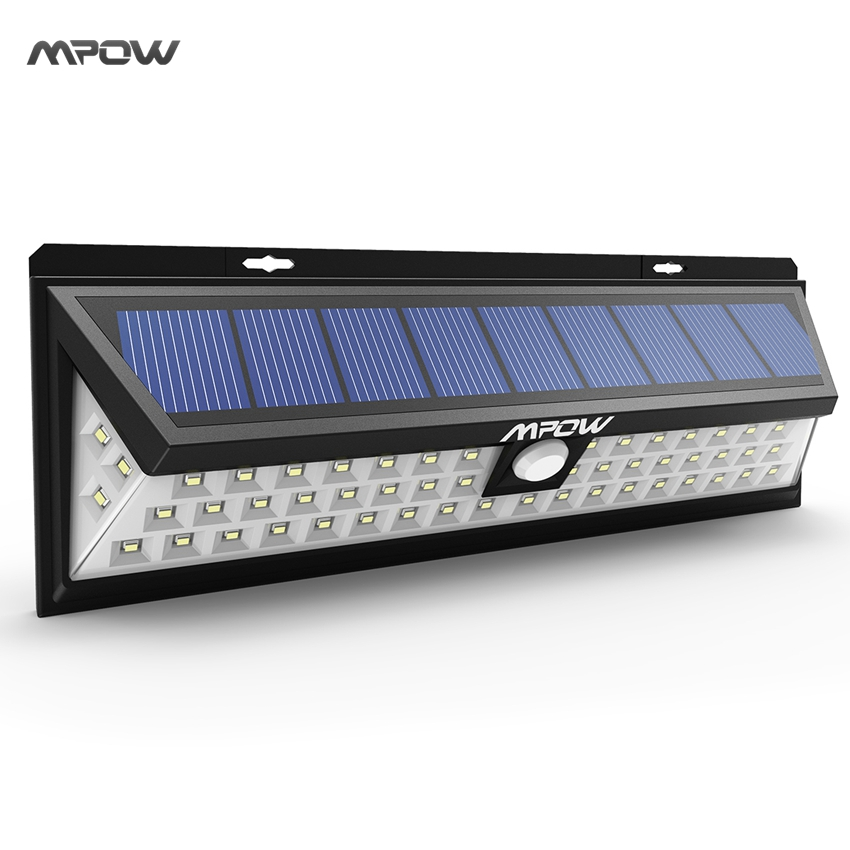 mpow 54 led night lighting waterproof solar lights wide angle led solar lamp outdoor garden. Black Bedroom Furniture Sets. Home Design Ideas