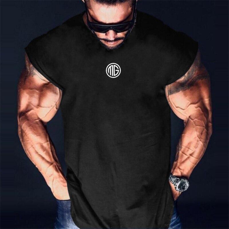 Muscleguys brand clothing Fitness   Tank     Top   Men Stringer Bodybuilding Muscle Shirt Workout Vest gyms Sleeveless Singlets