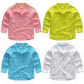 2017 spring and autumn clothes boys child polo shirts print baby child long-sleeve shirt 100% cotton boy casual top
