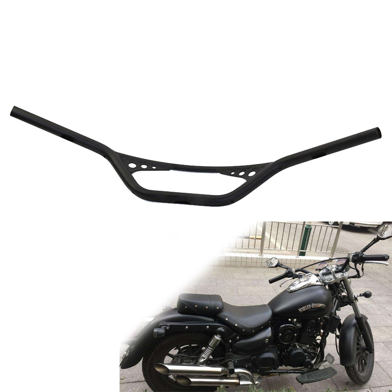 For Harley Handlebar 1 25mm Retro Motorcycle Drag Handle Bar Handlebar For Sportster XL883 XL1200 Softail FLST FXST Dyna Custom 25mm scrambler handlebar retro style drag cross bar drilled hole for harley sportster xl iron 883 1200 dyna wide glide cruiser