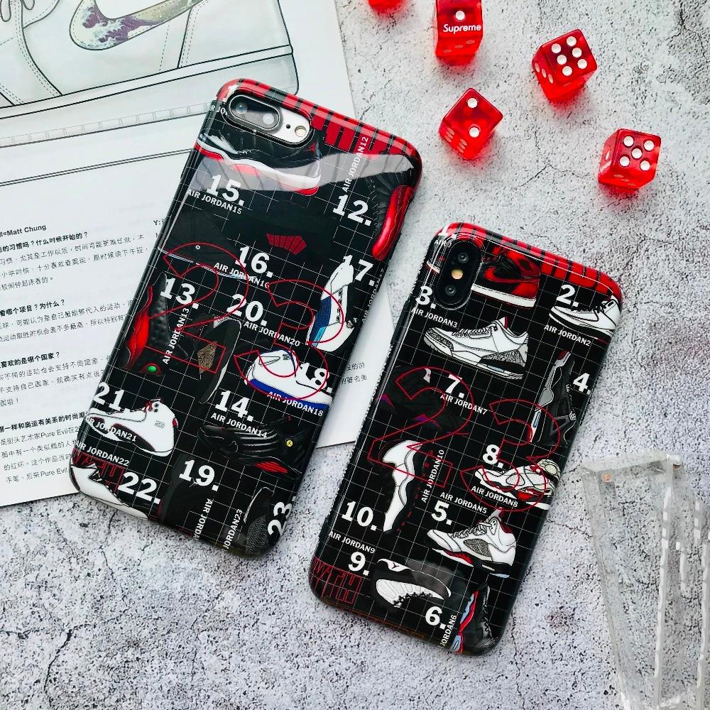 Air 23 Flyman Jordan Telefon Fall Für Iphone 7 6 S 8 Plus X Xs Max Xr Sport Marke Basketball Schuhe Weichen Silikon Telefon Abdeckung Capa