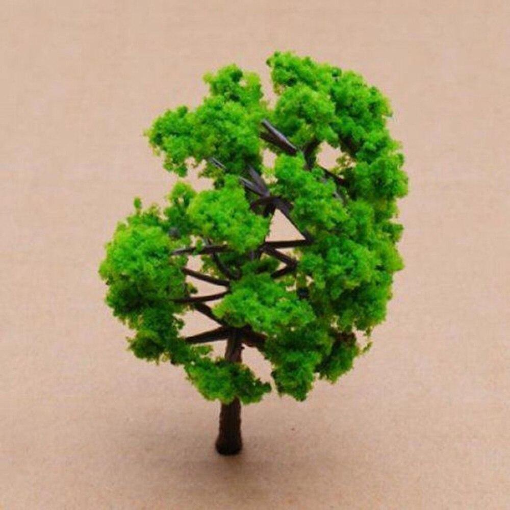 Green Trees Railroad Model Scenery Miniature Plastic 10xpcs/set For Train Wargame Park 8cm Best