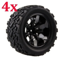 4pcs/set 1:10 RC Monster Bigfoot Car Buggy Tires for HPI HSP Traxxas Off-Road Set Tyre Wheel Rim