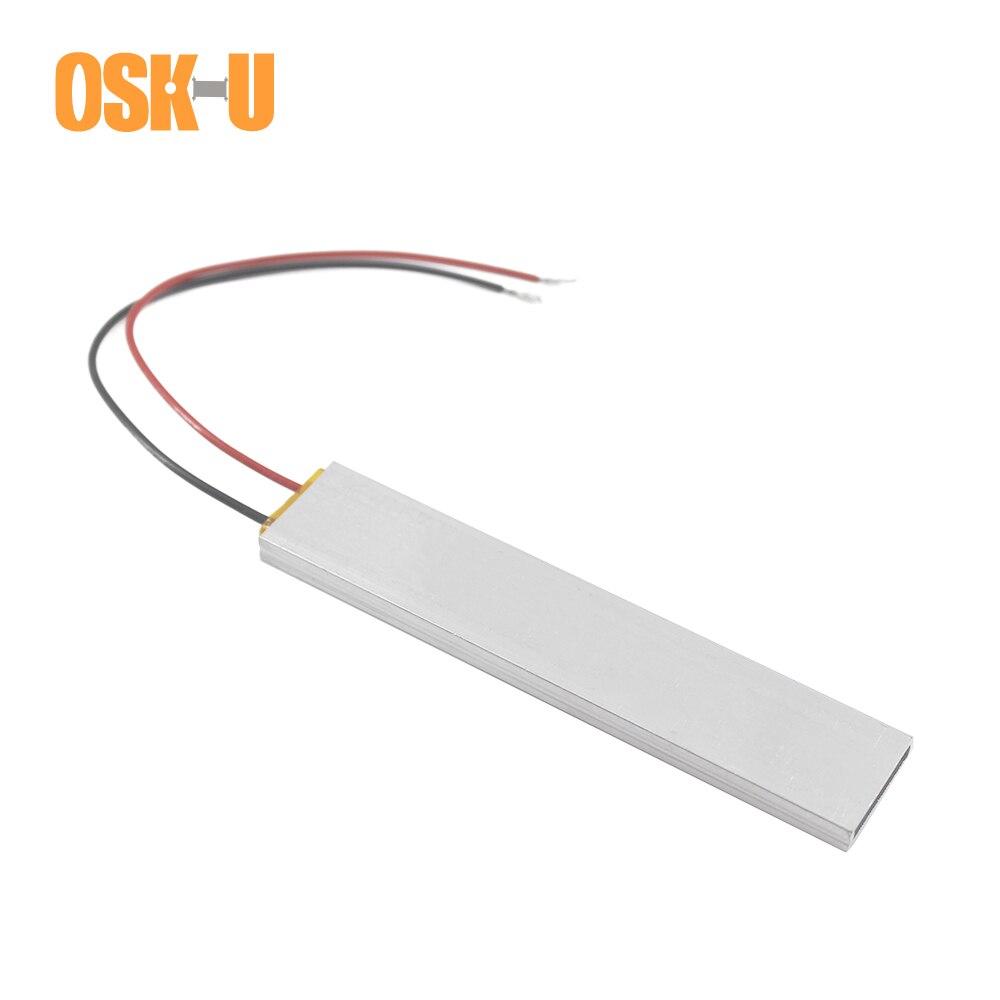OSKIU PTC Heating Element 220V 100x20x5mm 70/270 Celsius Degree Constant Temperature PTC Heater Plate Aluminium Cover
