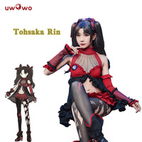 UWOWO Tohsaka Rin Cosplay Queen Ver. Fate Grand Order Costume Fate Extra Cosplay Rin Tohsaka Costum Women