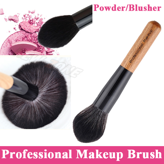 Professional Super Soft Big Powder Brush Face Blusher Powder Makeup Brush Single Angled Flame Shape 2017 professional 1pcs beauty women powder single soft face cosmetic makeup brush big loose