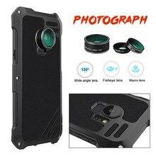 Luxury Metal Anti Shock Proof Resist Camera Lens Phone Case for Samsung S9 S9 Plus Waterproof Wide Angle Macro Lens Cover Cases