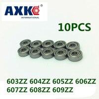Free Shipping High Quality 10 PCS 603ZZ 604ZZ 605ZZ 606ZZ 607ZZ 608ZZ 609ZZ ABEC 5 Miniature