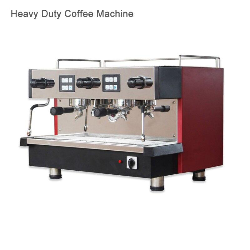 Machine à café expresso cafetière pour l'italie café avec eau chaude en plein air deux mousses de lait Machine robuste