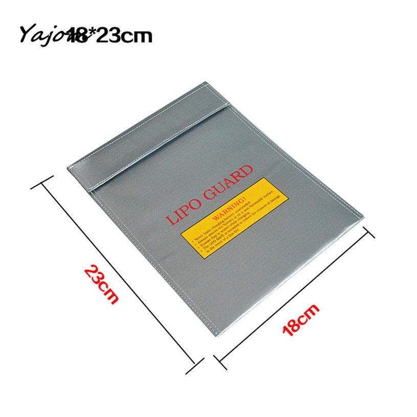 2017 New Hot Sale LiPo Li-Po Battery Fireproof Safety Guard Safe Bag 18*23MM New High Quality Mar 10