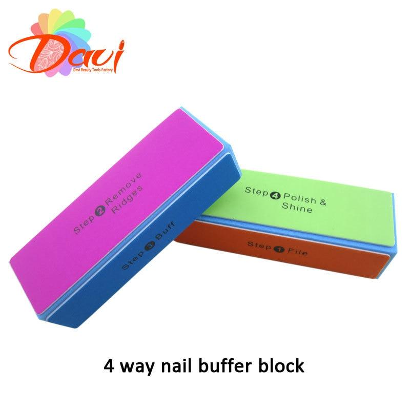 4 ways nail buffer polishing sponge 30pcs/lot nail file buffer block ...