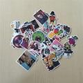 40 pçs/saco Skate Adesivos Não-Repetido Adesivos para Notebook Mala de Viagem Mala Luggae Geladeira Home Decor Adesivos