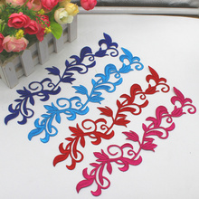 YACKALASI 5 Pcs/Lot Gold Embroidery Appliqued Lace Cosplay Costume Patches And Silver Flower Iron on Venise Trims 12.5*18cm