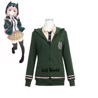 Danganronpa Nanami ChiaKi Hoodie Coat Jacket Shirt Dress Uniform Outfit Anime Cosplay Costumes