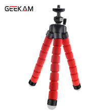 GEEKAM Mini Moveable Versatile Tripod Holder Mount Stand For Motion Digicam Gopro Hero three/three+/four Equipment And Cellular Telephone Mild