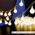 10 М 50LED/10 М 80LED водонепроницаемый рождество светодиодный шар Свет шнура ЕС 220 В мяч строка крытый открытый сад свадьба праздник освещения