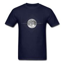 цена на Brand New Moon Print Tshirt Mens Tees Short Sleeve T Shirt For Men 100% Cotton Fabric Fall O-Neck T-Shirt Custom Tops Prevailing