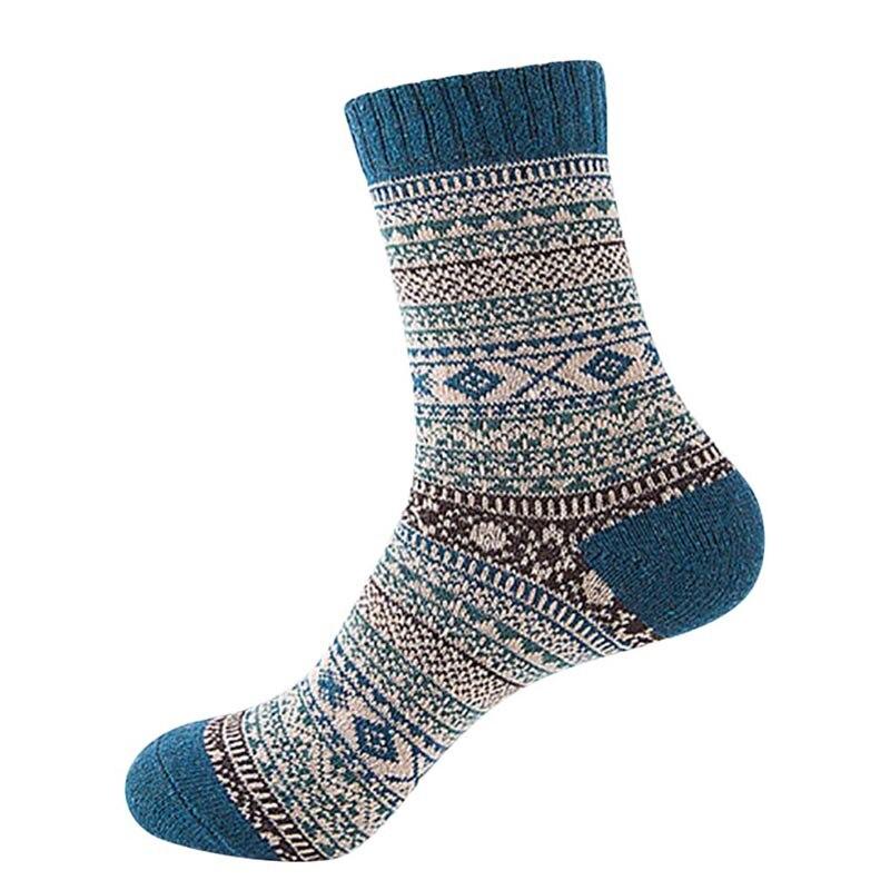 Модные Стиль Для мужчин шерсть теплые носки в полоску Дизайн Multi-Цвет Прохладный Для женщин Носки