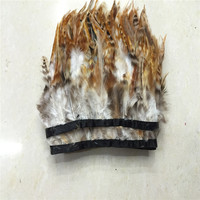 Beautiful 10 m/a lot! 2 4 inches high! Natural red photo tip color feathers trimmed freeshipping