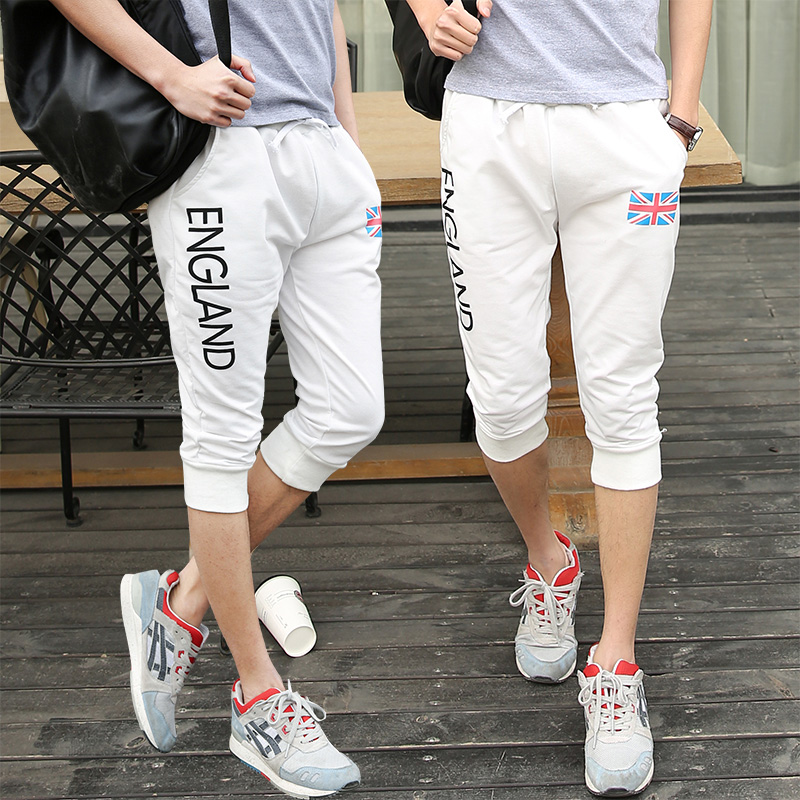 Aliexpress.com : Buy Korean men Capri pants breeches summer 7 ...