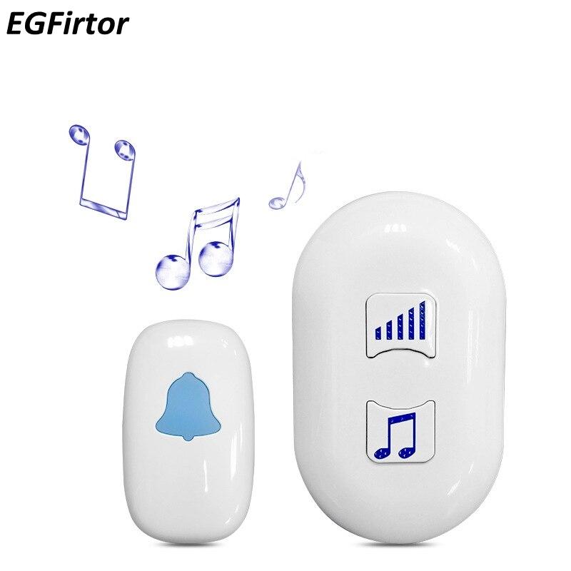 Wireless Doorbell 85-240V Waterproof Adjustable Volun 200M Range Door Bell Low Price Home Alarm 38 Music Door Ring Easy Install