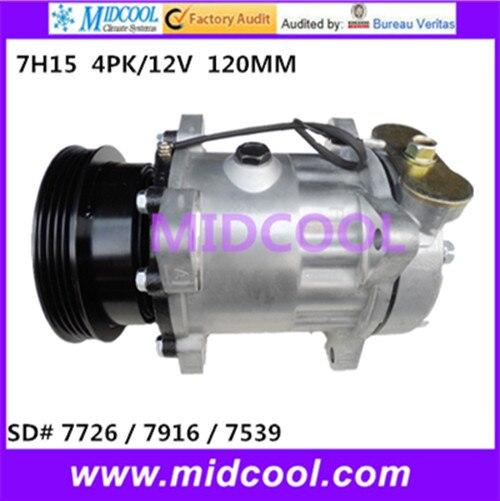 HIGH QUALITY AUTO AC COMPRESSOR 7H15   FOR   7726 / 7916 / 7539 4PK/12V 120MMHIGH QUALITY AUTO AC COMPRESSOR 7H15   FOR   7726 / 7916 / 7539 4PK/12V 120MM