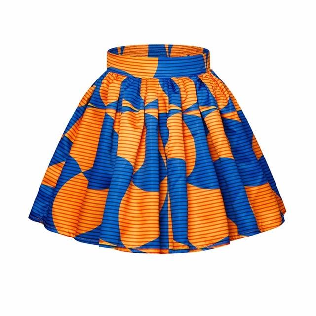 5da6dfc3ee31f9 Vrouwen Zomer Plooirok Hoge Taille Print Tutu Skater Afrikaanse Stijl Mini  Rok voor Meisjes 6 Kleuren