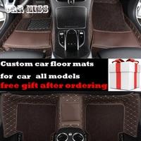 custom Double layer logo car floor mats for suzuki baleno swift vitara liana grand vitara sx4 jimny Kizashi Alivio car mats