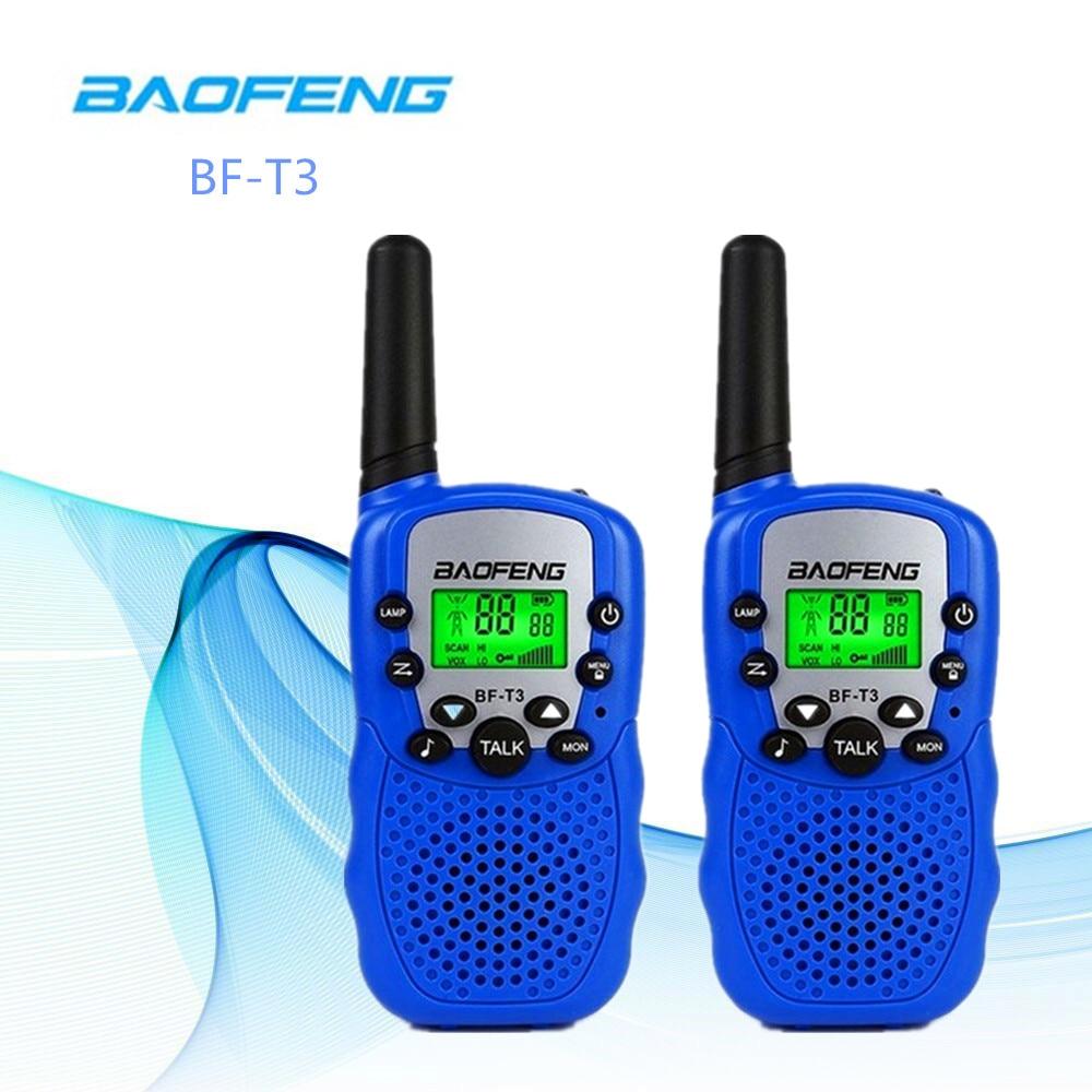 2 шт. Baofeng BF-T3 Walkie Talkie лучший подарок для детей радио мини ручной T3 беспроводной двухсторонний радиоприемник детская игрушка Woki Toki
