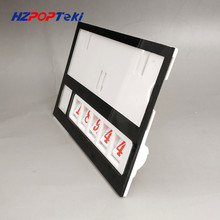 Plastic Number Changable by Hand POP Price Label Display Signs Tag Paper Frame Clip Holders in Supermarket Retail 500sets стоимость