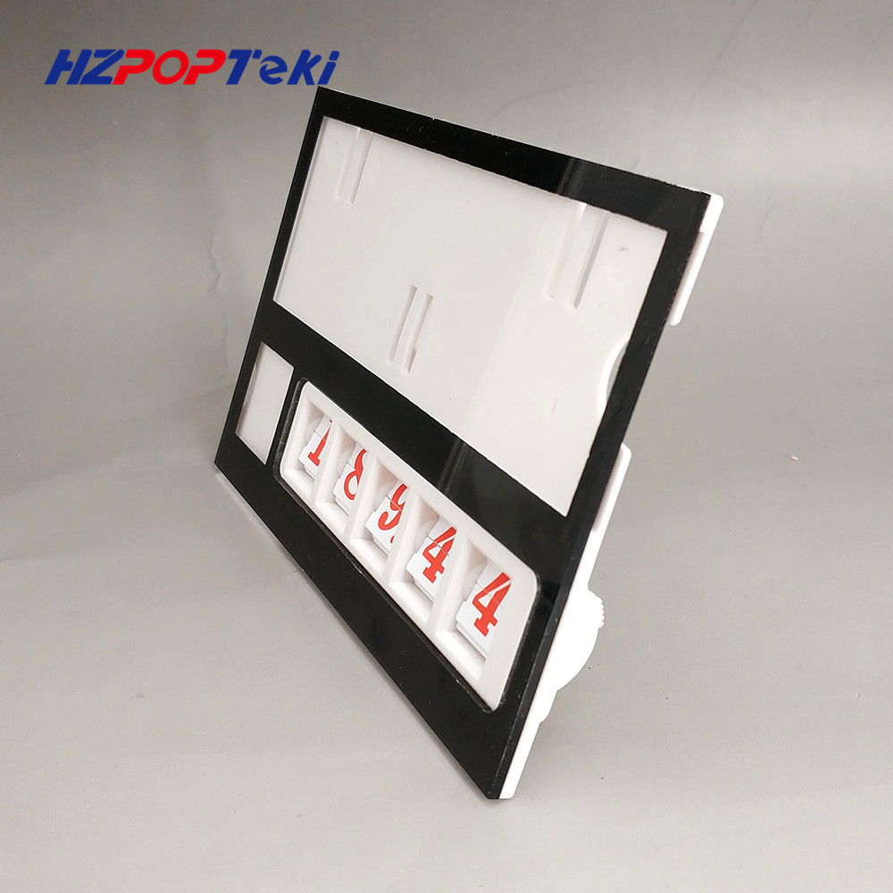 Plastic Number Changable by Hand POP Price Label Display Signs Tag Paper Frame Clip Holders in Supermarket Retail 500sets
