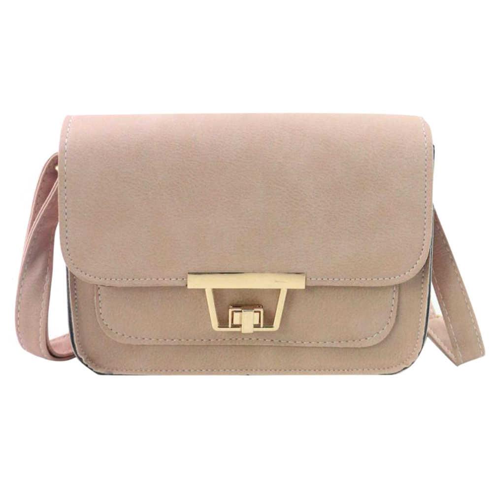 1e93d3e245 Fashion Women PU Leather Handbag Small Shoulder Bag Purse Mini Square Tote  Crossbody Bags AB