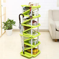Simple Assembly Type Household Economic Shoe Storage Bedroom Modern Functional Shoe Rack Umbrella Stand