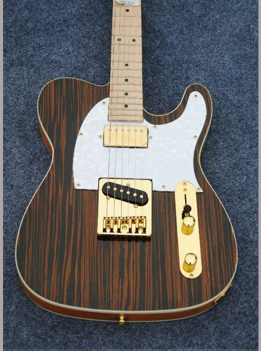 2016 new Factory zebra wood chender electric guitar all gold hardware electric guitar Free shipping made