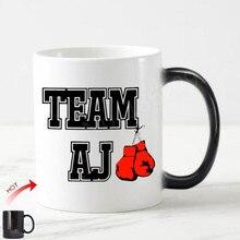 c1d73b95 Nouvelle équipe AJ Anthony Joshua boxe poids lourd Champ thé tasse à café  tasse nouveauté couleur changeante anniversaire cadeau.