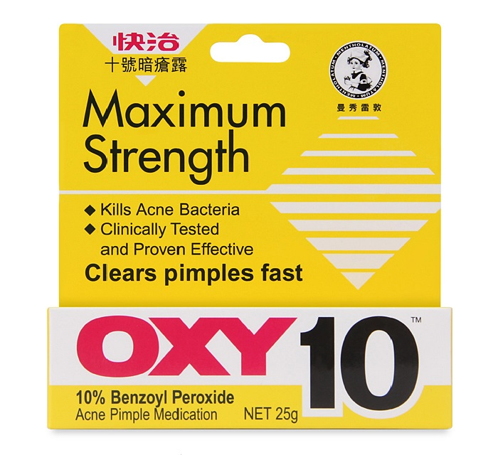 2pcs Mentholatum OXY 10 Maximum Strength Acne Medication 25g