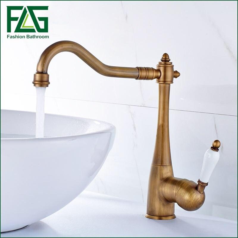 Antique Bronze Kitchen Faucet, Bathroom Antique Brass Sink Faucet ...