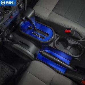 Image 2 - MOPAI Car Gear Shift Pomello Del Pannello di Rivestimento Della Copertura Adesivi per Jeep Wrangler JK 2007 2010 Decorazione di Interni Accessori Auto styling