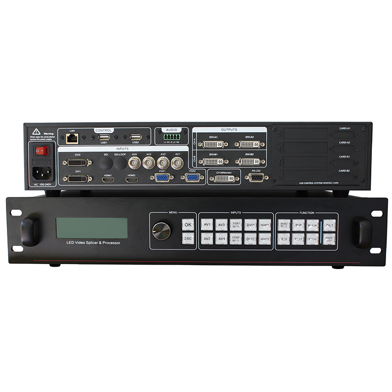 Host computer control and timing switch function AMS-SC358 seamless switching video wall controllerHost computer control and timing switch function AMS-SC358 seamless switching video wall controller