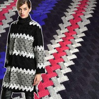 1 Jardas 91*140 cm, Lã Tweed Tecido Listra, Heay Inverno Casaco de Pano Vestido de Tecido, Sobretudo jaqueta de Material de Costura