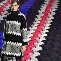1Yard 91*140cm,Wool Tweed Stripe Fabric,Heay Winter Coat Dress Cloth Tecido,Overcoat Jacket Sewing Material