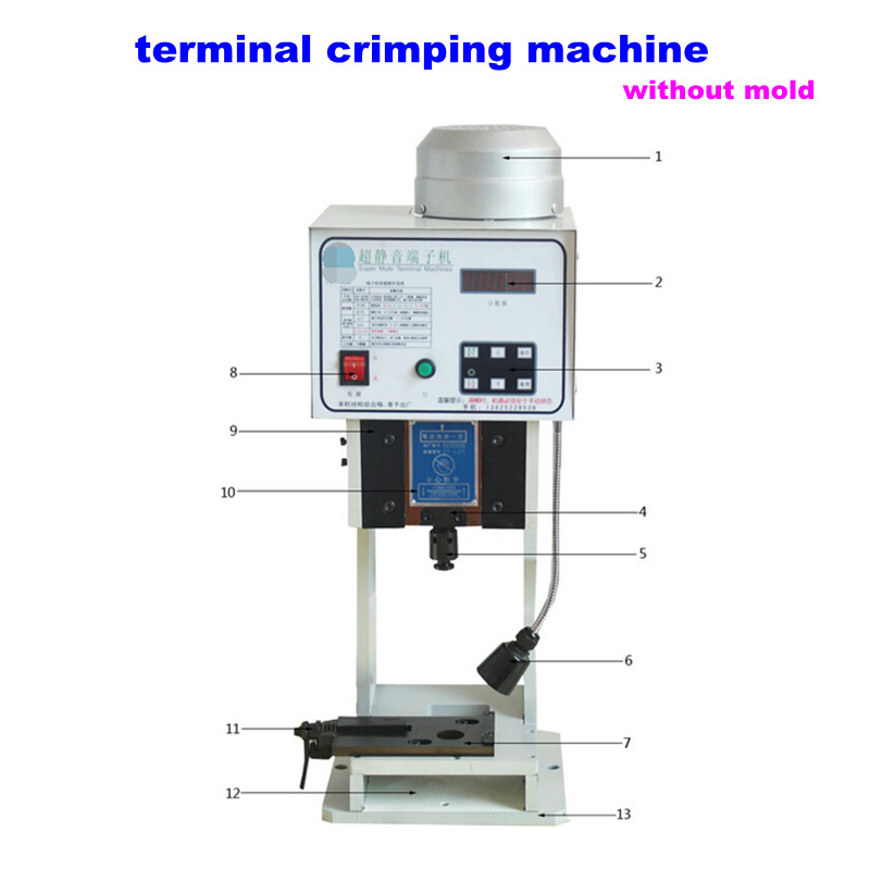 High-speed Automatic Terminal Crimper 1.5T Low noise Terminal Crimping Machine without mold, free tax to Russia pz0 5 16 0 5 16mm2 crimping tool bootlace ferrule crimper and 1k 12 awg en4012 bare bootlace wire ferrules