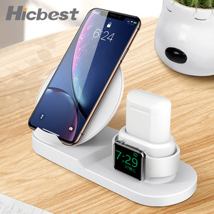 Image 5 - 3 in 1 Wireless Charger Stand for iPhone 8 X XR XS Wireless Charging Dock Station Magnetic Charger for Apple Watch 4 3 2 1 3in1
