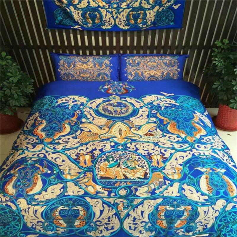 Roman Holiday 100% de algodón Egipcio ropa de cama conjunto 4 unids celebre la b