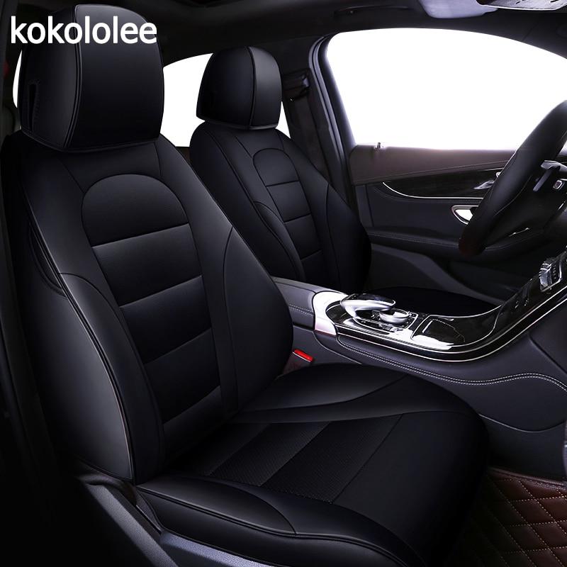 kokololee custom real leather car seat cover for Mitsubishi pajero sport pajeroV93/V97 OUTLANDER EX ASX Grandis auto Accessories