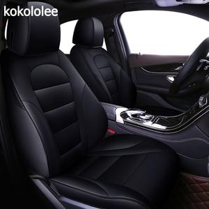 Image 1 - kokololee custom real leather car seat cover for Mitsubishi pajero sport pajeroV93/V97 OUTLANDER EX ASX Grandis auto Accessories