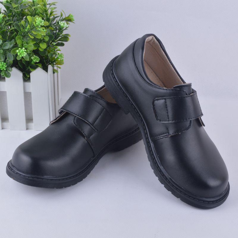 Детские кожаные ботинки мальчиков младших школьников черные кожаные туфли униформа для мальчиков обувь