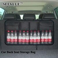 1pc SEEYULE Huge Capacity Car Seat Back Organizer SUV Trunk Storage Bag Clothes Umbrella Drink Food