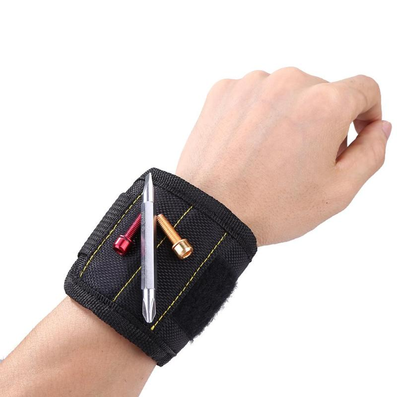 Magnetic Wristband Tool Pouch Bag Wrist Pocket Magnet Screw Nails Home Holder Strong Magnets Woodworking Waterproof Tool Bag