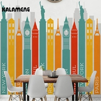 KALAMENG Custom Photo Wallpaper Famous Building Sign 3D Mural Wall Paper Living Room TV Background Home